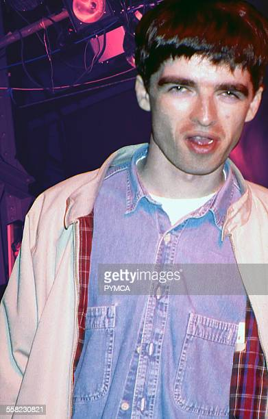 Noel Gallagher when still a roadie for the Inspiral Carpets pre Oasis at the Hacienda Manchester UK 1989