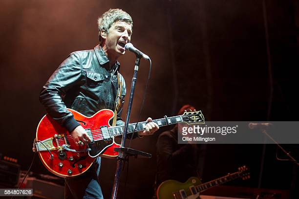 Noel Gallagher's High Flying Birds perform headlining Day 2 of Y Not Festival 2016 at Pikehall on July 30 2016 in Matlock England