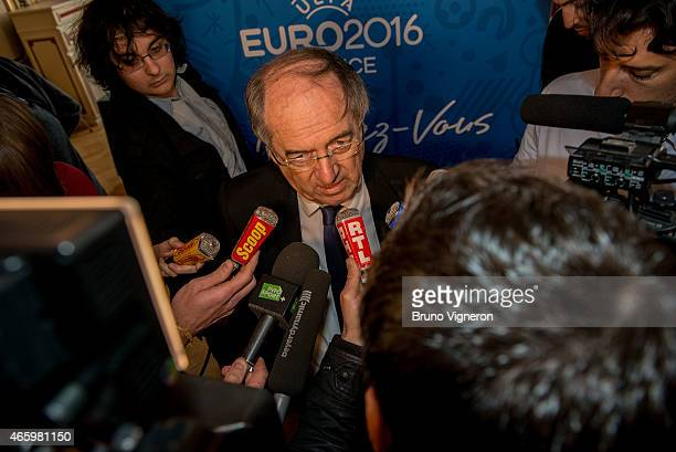 Noel Le Graet attends the EURO 2016 Steering Committee Meeting Lyon on March 12 2015 in Lyon France