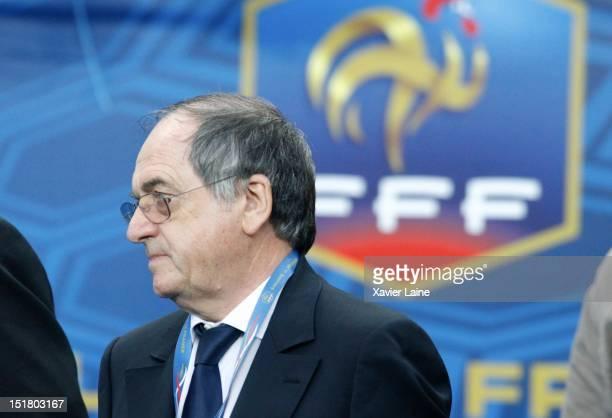 Noel Le Graet attends the FIFA 2014 World Cup Qualifer between France and Belarus at Stade de France on September 11 2012 in Paris France