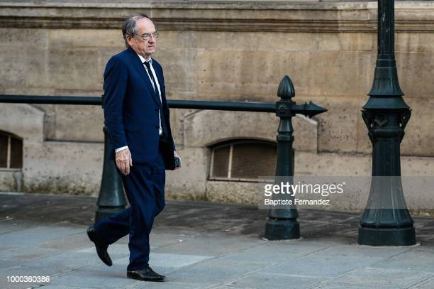 Nathalie Boy de la Tour President of the French League leaves the reception of the World Cup Champions on July 16 2018 in Paris France