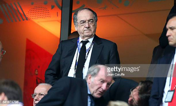 Noel Le Graet President of French Football Federation attends the UEFA EURO 2016 Group A match between Switzerland and France at Stade PierreMauroy...