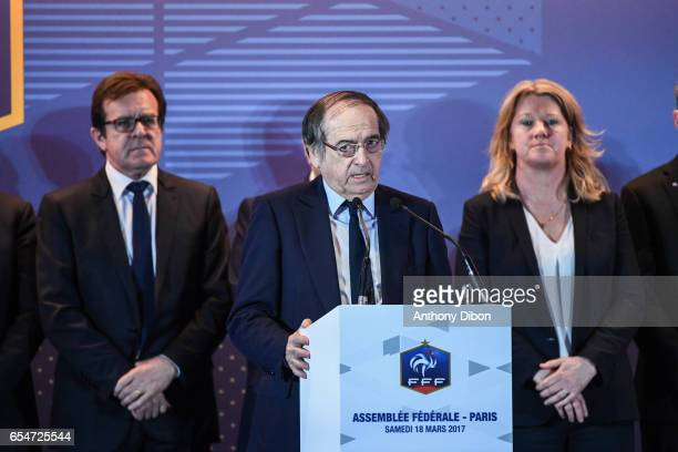 Noel Le Graet president of the French Football Federation during the General Meeting of the French football federation at Hotel Meridien Etoile on...