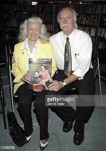Noel Neill and Larry Thomas Ward author of Truth Justice The American Way The Life and Times of Noel Neill The Original Lois Lane appear at Rocket...