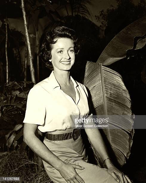 Noel Neill, US actress, wearing a white short-sleeve blouse in a publicity portrait issued for the US television series, 'Adventures of Superman',...