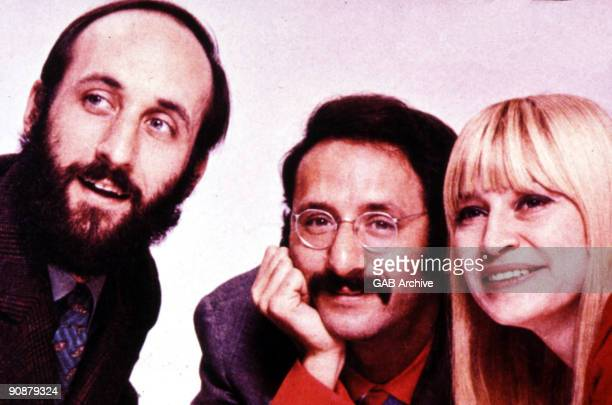 LR Noel 'Paul' Stookey Peter Yarrow and Mary Travers of Peter Paul And Mary pose for a group portrait c 1968
