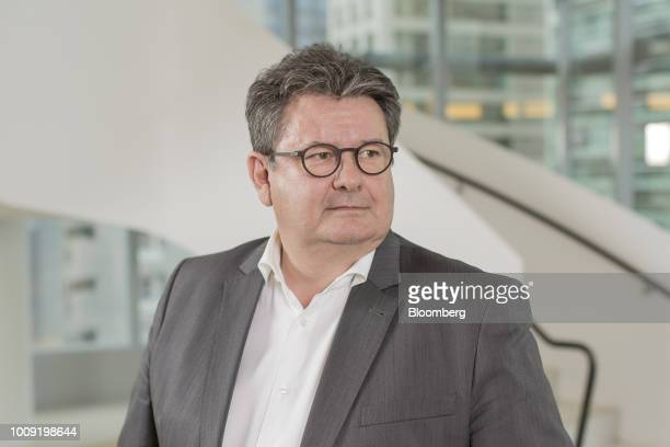 Noel Prioux chief executive officer of Carrefour Brazil stands for a photograph following an interview in Sao Paulo Brazil on Wednesday Aug 1 2018...