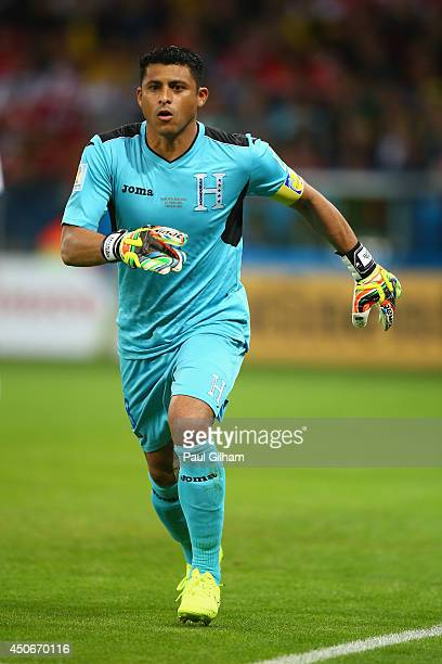 Noel Valladares of Honduras in action during the 2014 FIFA World Cup Brazil Group E match between France and Honduras at Estadio BeiraRio on June 15...