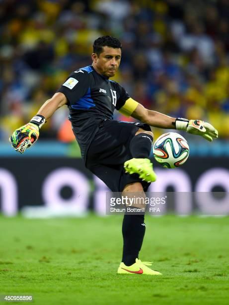 Noel Valladares of Honduras in action during the 2014 FIFA World Cup Brazil Group E match between Honduras and Ecuador at Arena da Baixada on June 20...