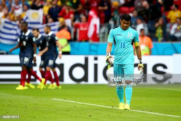 Noel Valladares of Honduras shows his dejection during the 2014 FIFA World Cup Brazil Group E match between France and Honduras at Estadio BeiraRio...