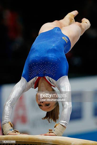 Noel van Klaveren of the Netherlands competes in the Womens Vault Qualification on Day Three of the Artistic Gymnastics World Championships Belgium...