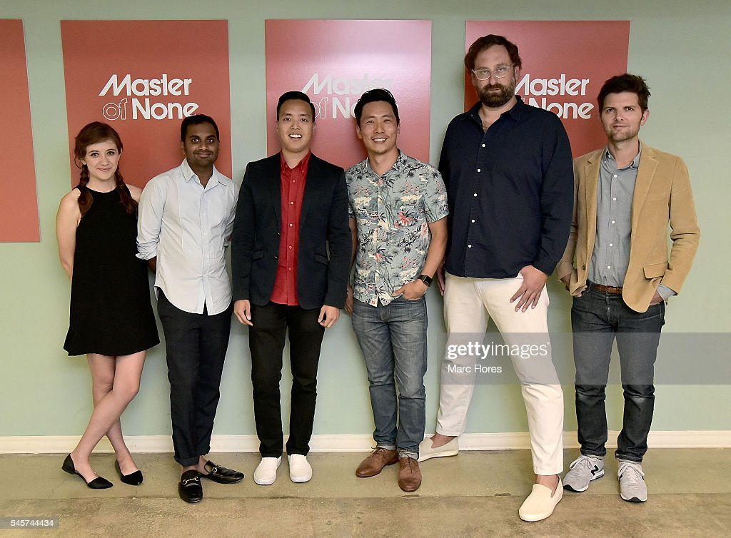 noel wells aziz ansari alan yang kelvin yu eric wareheim and adam news photo getty images. Black Bedroom Furniture Sets. Home Design Ideas