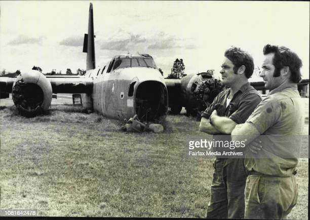 Noel Wilson and Alec Drew discuss there problemA Neptune bomber purchased by Alec Drew and Noel Wilson of Marrickville Salvage from The Department of...