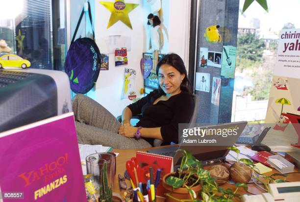 Noelia FernandezArroyo Senior Producer for Yahoo Spain poses for a portrait inside her office November 10 2000 in Spain