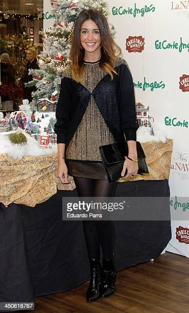 Noelia Lopez attends El Corte Ingles Christmas space party photocall at El Corte Ingles store on November 19 2013 in Madrid Spain
