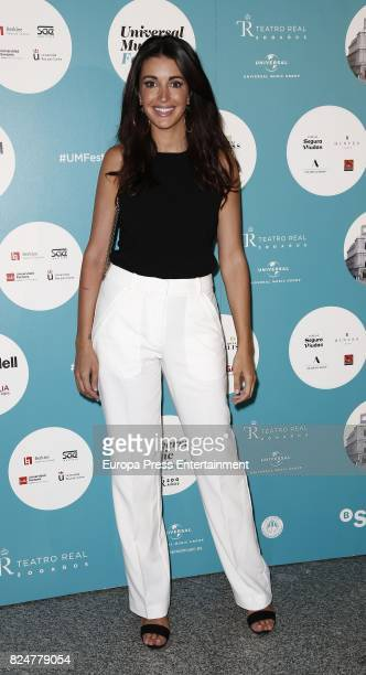 Noelia Lopez attends Luis Fonsi concert at the Royal Theatre on July 30 2017 in Madrid Spain