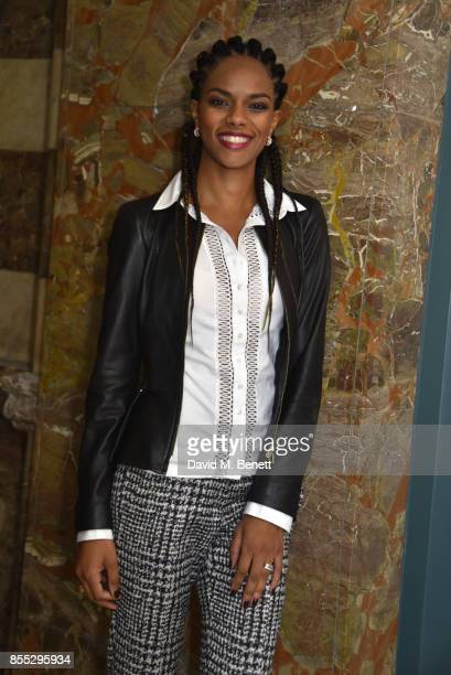 Noella Coursaris attends the press night of Aida opening the English National Opera's new season at The London Coliseum on September 28 2017 in...