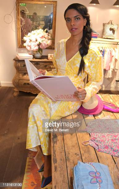 Noella Coursaris Musunka attends a party celebrating Bonpoint x The Grace Tales at the Bonpoint Marylebone store on March 19 2019 in London England