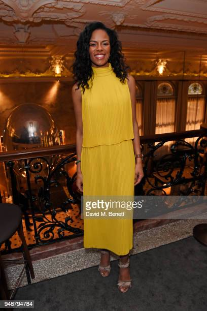 Noella Coursaris Musunka attends the Eco Age Earth Day party at The London EDITION on April 19 2018 in London England