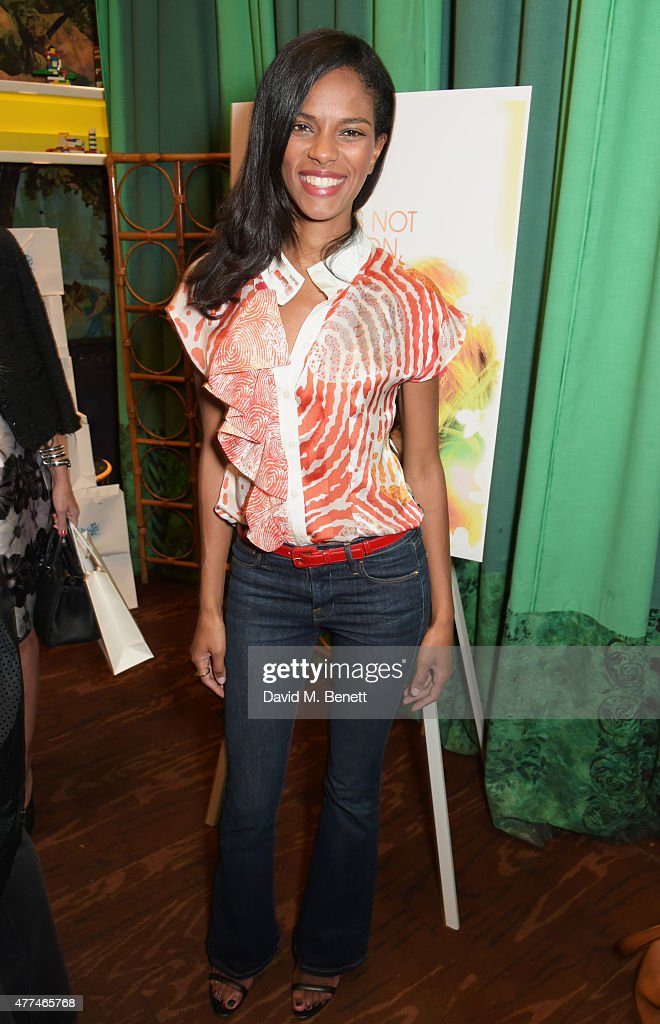 Noella Coursaris Musunka attends the launch of natural health, beauty and wellbeing website Grace Guru, hosted by Anna Grace-Davidson with the support of Jo Wood Organics, at Sketch on June 17, 2015 in London, England.