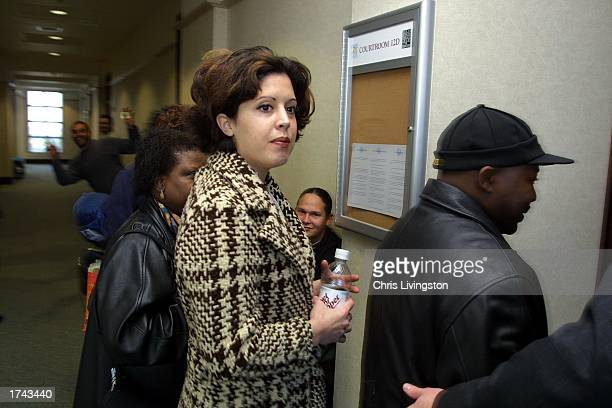 Noelle Bush enters an Orange County courtroom before her regularlyscheduled court appearance January 24 2003 in Orlando Florida Bush has been a...