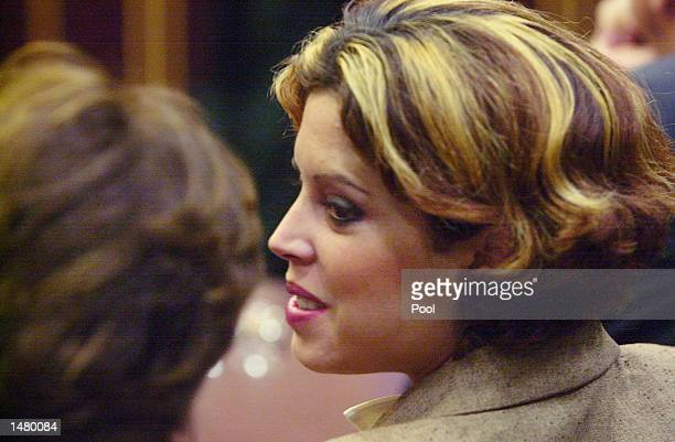 Noelle Bush waits for the start of her drug court hearing in an Orange County courtroom October 17 2002 in Orlando Florida Bush the daughter of...