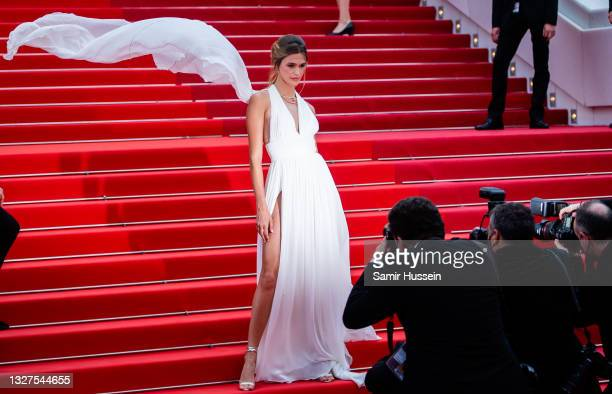 """Noelle Capri attends the """"Tout S'est Bien Passe """" screening during the 74th annual Cannes Film Festival on July 07, 2021 in Cannes, France."""