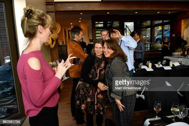 Noelle Hubbell Devin DiGonno and Mammoth Lakes Film Festival Director Shira Dubrovner attend the 2018 Mammoth Lakes Film Festival on May 25 2018 in...