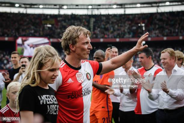 Noelle Kuyt , Dirk Kuyt , Roy Makaay Ronald Koeman during the Dirk Kuyt Testimonial at the Feyenoord Stadium on May 27, 2018 in Rotterdam Netherlands