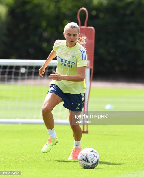 Noelle Maritz of Arsenal during the Arsenal Women training session at Arsenal Academy on July 29 2020 in Walthamstow England
