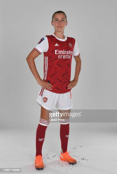 Noelle Maritz of Arsenal during the Arsenal Women's Photocall at London Colney on August 12, 2020 in St Albans, England.