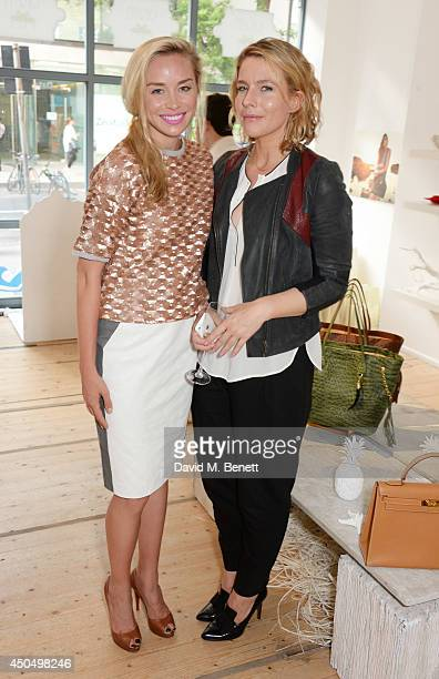 Noelle Reno and Amy E Williams attend the Okapi London launch and summer party on June 12 2014 in London England