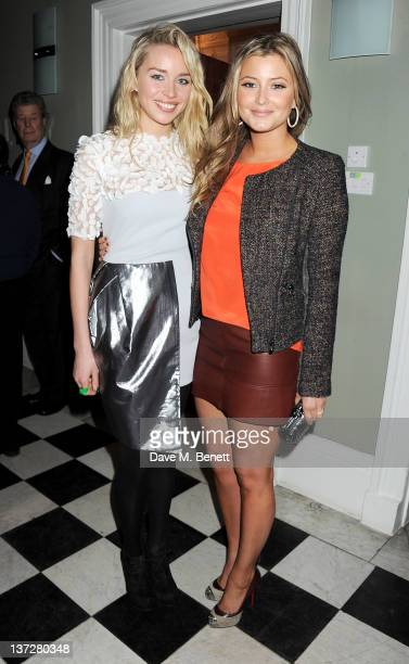 Noelle Reno and Holly Valance attend the Faberge Big Egg Hunt Champagne Countdown party at Quintessentially on January 18 2012 in London England