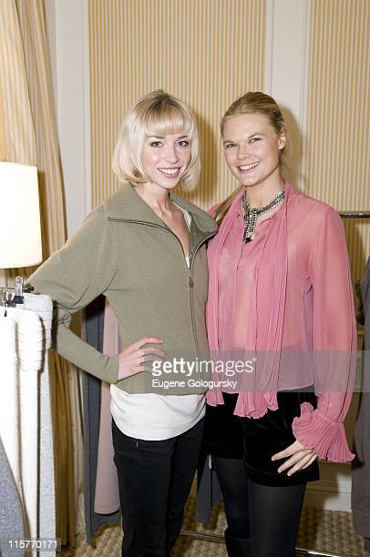 Noelle Reno and Kate Schelter at Matthew Mellon Noelle Reno host the Degrees of Freedom Lunch during MercedesBenz Fashion Week on February 6 2008 at...