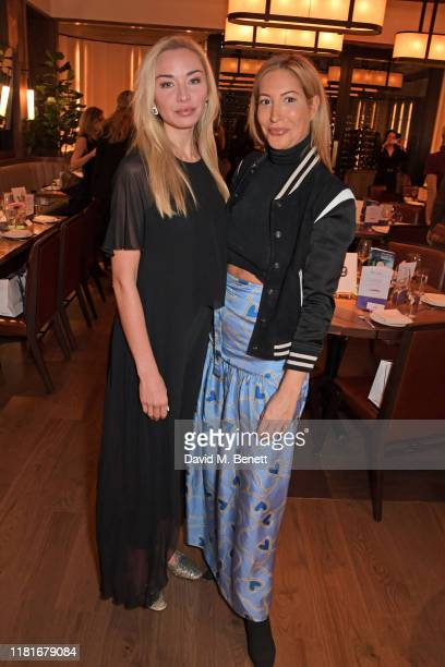 Noelle Reno and Laura Pradelska attend a lunch hosted by Amanda Staveley for 'Wellbeing Of Women', Britain's foremost female health charity investing...