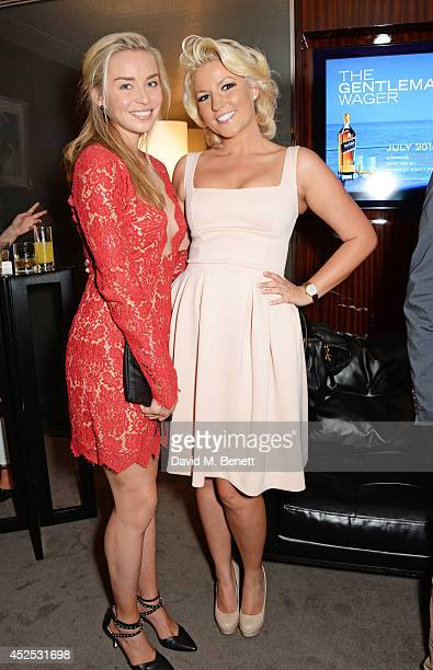 Noelle Reno and Natalie Coyle attend a VIP screening of 'Gentleman's Wager' hosted by Johnnie Walker Blue Label at The Bulgari Hotel on July 22 2014...