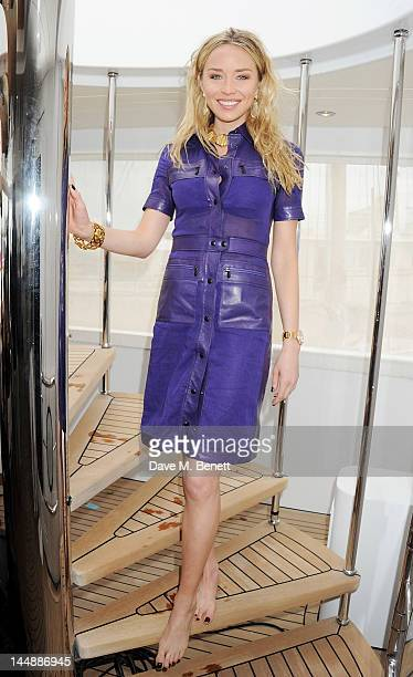 Noelle Reno attends a lunch hosted by Len Blavatnik Harvey Weinstein and Warner Music during the 65th Cannes Film Festival on board the Odessa at Old...