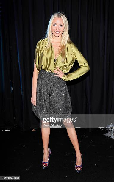 Noelle Reno attends a party celebrating the launch of 28 Club a new night club in the basement of Morton's Private Member's Club in Berkeley Square...