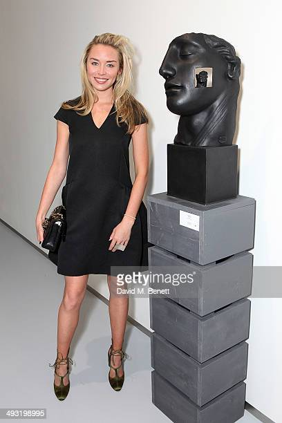 Noelle Reno attends a private view of works by master sculptor Igor Mitoraj to launch Contini Art UK a new gallery opening on New Bond Street on May...