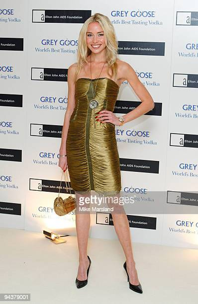 Noelle Reno attends the Grey Goose Character Cocktails winter fundraiser in aid of the Elton John AIDS Foundation at The Grosvenor House Hotel on...