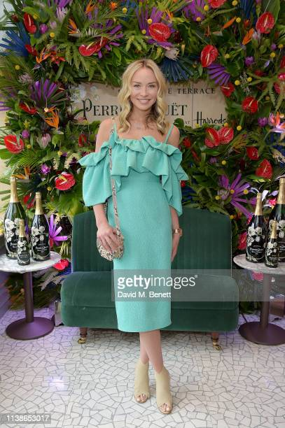 Noelle Reno attends the launch of the PerrierJouet Champagne Terrace at Harrods on March 27 2019 in London England