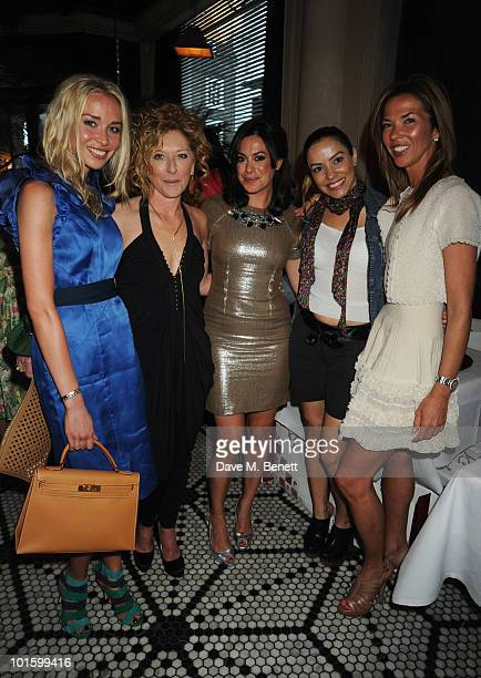 Noelle Reno Kelly Hoppen Katie Nicholl Elen Rives and Heather Kerzner attend the book launch party for Katie Nicholl's book 'William And Harry' at...