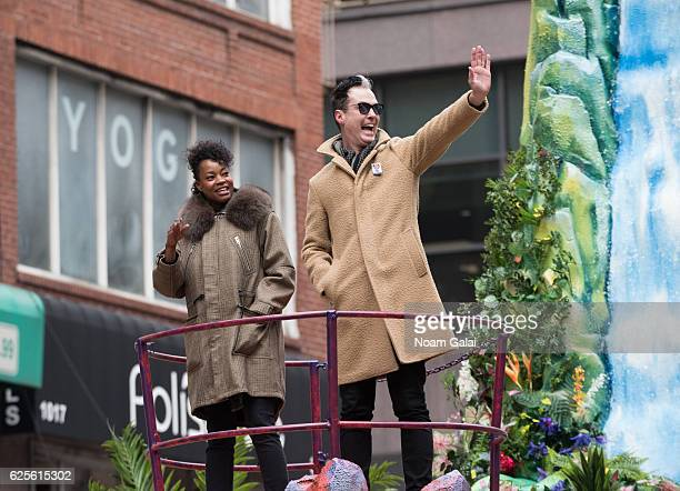 Noelle Scaggs and Michael Fitzpatrick of Fitz and The Tantrums attend the 90th Annual Macy's Thanksgiving Day Parade on November 24 2016 in New York...