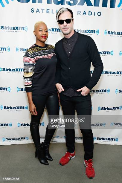 Noelle Scaggs and Michael Fitzpatrick of Fitz and the Tantrums visit the SiriusXM Studios on February 27 2014 in New York City