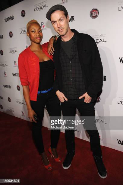 Noelle Scaggs and Michael Fitzpatrick of the band of Fitz and the Tantrums attend Vanity Fair L'Oréal Paris Fiathosted DJ Night in support of The...