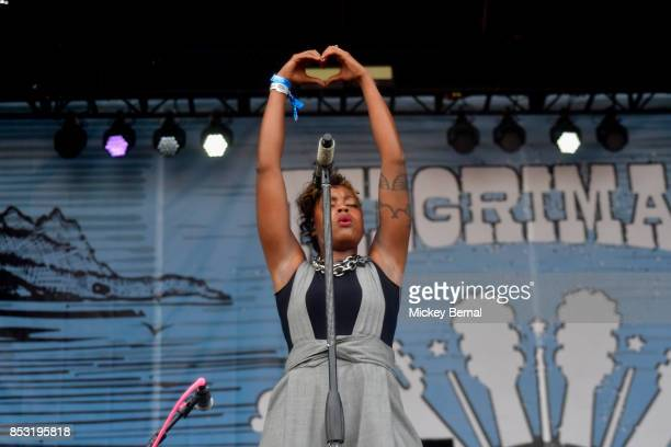 Noelle Scaggs of Fitz and the Tantrums performs during Pilgrimage Music Cultural Festival on September 24 2017 in Franklin Tennessee