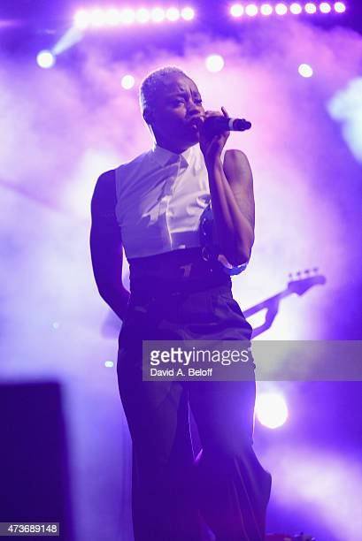 Noelle Scaggs of Fitz and the Tantrums performs onstage at the Lava Festival on May 16 2015 in Suffolk Virginia