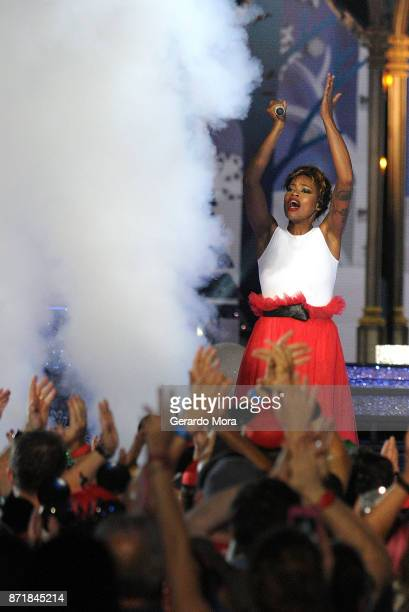 Noelle Scaggs of the Fitz and the Tantrums performs during the taping of 'The Wonderful World Of Disney Magical Holiday Celebration' at Walt Disney...