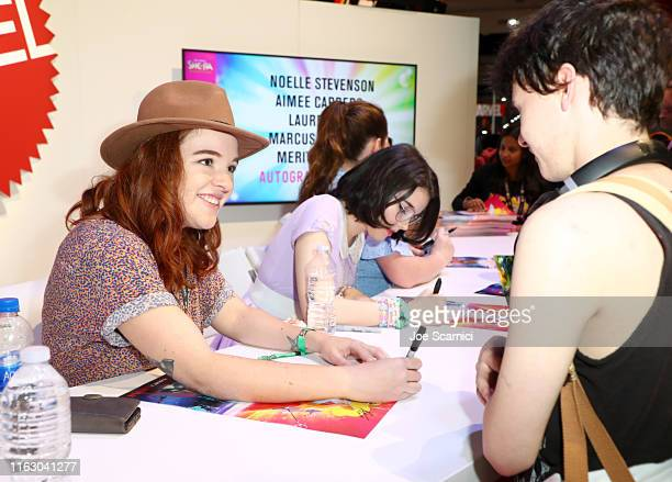 Noelle Stevenson and Merit Leighton meet fans at DreamWorks She-Ra and the Princesses of Power at San Diego Comic-Con 2019 at San Diego Convention...