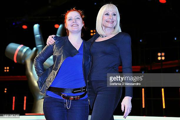 Noemi and Raffaella Carra attend 'The Voice of Italy' Photocall on March 5 2013 in Milan Italy